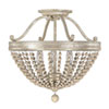 This item: Evelyn Silver Quartz Three-Light Semi-Flush with Wood Bead