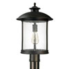 This item: Uptown Old Bronze One-Light Outdoor Post Mount with Antique Glass