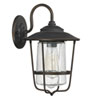 This item: Afton Old Bronze One-Light Outdoor Wall Lantern with Seeded Glass