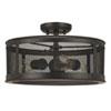 This item: Uptown Old Bronze Three-Light Outdoor Semi-Flush Mount