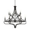 This item: Wellington English Bronze 48-Inch Twelve-Light Chandelier