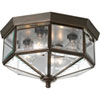 This item: Webster Beveled Glass Antique Bronze Four-Light Flush Mount with Clear Beveled Glass Panels