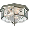 This item: Webster Beveled Glass Brushed Nickel Four-Light Flush Mount with Clear Beveled Glass Panels