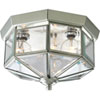 This item: Webster Beveled Glass Brushed Nickel Three-Light Flush Mount with Clear Beveled Glass Panels