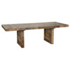 This item: Natalie Distressed Natural Reclaimed Pine 95 In. Ext Dining Table