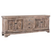 This item: Amy Rustic Taupe Reclaimed Pine Sideboard