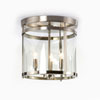 This item: Selby Brushed Nickel Three-Light Semi Flush Mount
