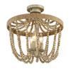 This item: Selby Natural Wood Three-Light Semi-Flush