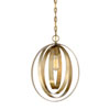 This item: Linden Natural Brass 12-Inch One-Light  Pendant
