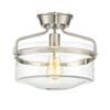 This item: Afton Brushed Nickel One-Light Drum Semi-Flush Mount