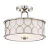 This item: Selby Polished Nickel Two-Light Drum Semi-Flush Mount