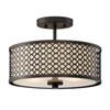 This item: Nicollet Rubbed Bronze Two-Light Drum Semi-Flush Mount