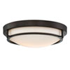 This item: Nicollet Rubbed Bronze Two-Light Flush Mount