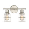 This item: Afton Brushed Nickel Caged Two-Light Industrial Vanity