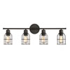 This item: Afton Rubbed Bronze Caged Four-Light Industrial Vanity