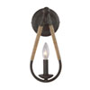 This item: Hayden Rust One-Light Wall Sconce with Rope Accents