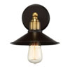 This item: River Station Rubbed Bronze and Brass One-Light Industrial Wall Sconce