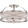 This item: Isles Brushed Nickel Two-Light Drum Semi-Flush Mount with Etched Opal Glass Shade