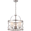 This item: Isles Brushed Nickel Three-Light Pendant with Etched Opal Glass Shade