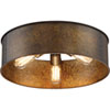 This item: River Station Weathered Brass Three-Light Industrial Drum Flush Mount
