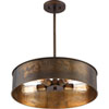 This item: River Station Weathered Brass Four-Light Industrial Drum Pendant