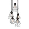This item: Hayden Brown Five-Light Wire Cage Mini-Pendant