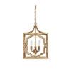 This item: Linden Antique Gold Three-Light Lantern Pendant