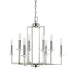 This item: Loring Polished Nickel Eight-Light 24-Inch Chandelier