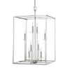 This item: Loring Polished Nickel Eight-Light 22-Inch Pendant