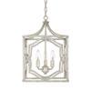 This item: Linden Antique Silver Three-Light Lantern Pendant