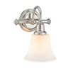 This item: Evelyn Polished Nickel One-Light Wall Sconce