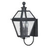 This item: Bryant Textured Black 10-Inch Three-Light Outdoor Wall Mount