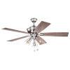 This item: Lex Satin Nickel 52-Inch Three-Light Ceiling Fan