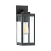 This item: Pax Black 14-Inch One-Light Outdoor Wall Lantern with Beveled Glass