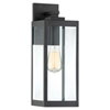 This item: Pax Black 17-Inch One-Light Outdoor Wall Lantern with Beveled Glass
