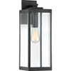 This item: Pax Black 20-Inch One-Light Outdoor Wall Lantern with Beveled Glass