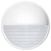 This item: Costaluz 3019 Series Aluminum One-Light Incandescent Wall Sconce with White Glass