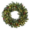 This item: Green 30-Inch Lighted Pine Wreath with Berries and Pine Cones