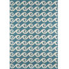 This item: Baja Waves Blue Rectangular: 6 Ft. 7 In. x 9 Ft. 6 In. Rug