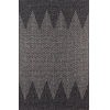 This item: Como Geometric Zig Zag Charcoal Rectangular: 2 Ft. x 3 Ft. Rug