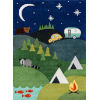 This item: Lil Mo Whimsy Camping Blue Rectangular: 4 Ft. x 6 Ft. Rug