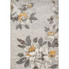 This item: Luxe Gray Floral Rectangular: 9 Ft. 3 In. x 12 Ft. 6 In. Rug