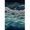 This item: New Wave Abstract Navy Rectangular: 5 Ft. 3 In. x 8 Ft. Rug