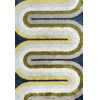This item: Retro Green Blue Rectangular: 3 Ft. 6 In. x 5 Ft. 6 In. Rug