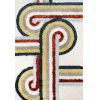 This item: Retro Turnstyle Multicolor Rectangular: 7 Ft. 6 In. x 9 Ft. 6 In. Rug