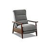 This item: Aaron Pewter High Leg Push Back Reclining Chair