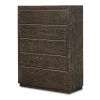 This item: Matteo Chocolate Rubberwood Ash and Metal Drawer Chest