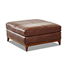 This item: Ansley Chestnut Leather Wood Base Ottoman