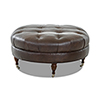 This item: Margot Driftwood Leather Tufted Ottoman