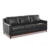 This item: Ansley Charcoal Leather Wood Base Sofa